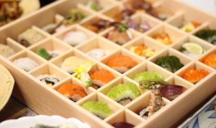 お花見ロール寿司